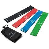 Starwood Sports ® Lot de 4 bandes élastiques d'exercice - yoga - Pilates - rééducation - homme - femme - latex naturel - garantie à vie