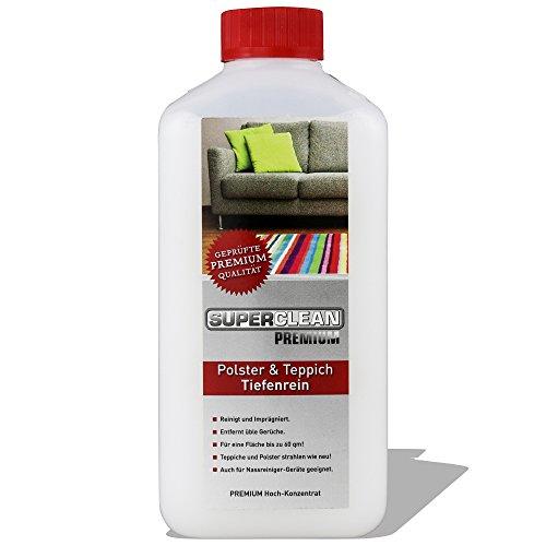 Spezial Flüssig Hochkonzentrat Polster & Teppich Tiefenrein für alle arten von Polstern, Teppichböden, Läufern, Autositzen, Autositzbezügen, Sofa oder der Couch. Fleckenentferner auch für Nassreiniger