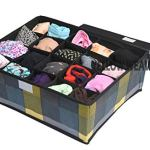 Yellow WeavesTM Undergarments Organizer/Foldable Storage Box with Lid for Drawers, Color - Multi 14