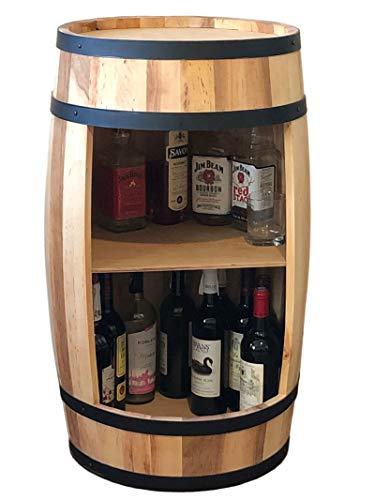 Armadietto per vino da 81 cm, in legno naturale, per whisky