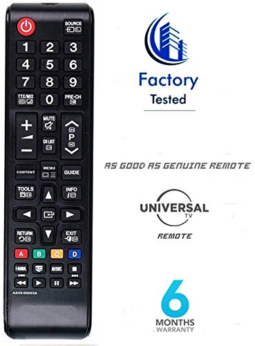 AMAZON Universal LED/LCD/TV Remote Control Works with All Samsung TV (Black)