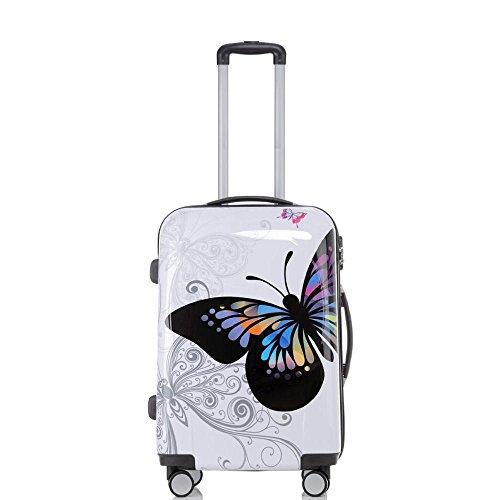 set di fino a 4 valigie bagaglio trolley vanity case abs policarbonato rigido leggero 4 ruote 360°...