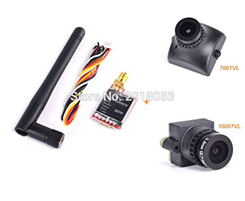 Generic 1000TVL Camera : TS5828 5.8Ghz 600mW 48 Channels Wireless AV transmitter + 700TVL / 1000TVL FPV Camera for quadcopter FPV Combo System Kit