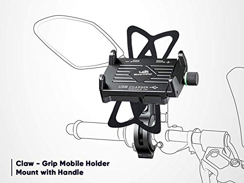 GrandPitstop Claw-Grip Mobile Holder Mount with Charger for Ducati Motorcycle