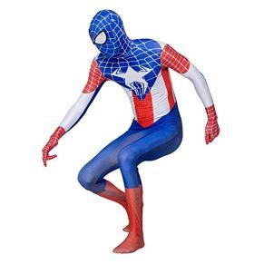 NJIUH Cosplay Traje De Halloween Impresión Digital 3D Hombre Araña De Capitán América Medias Cosplay Child M