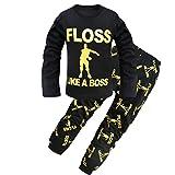 Dgfstm - Pijama Dos Piezas - para niño Negro Negro (Small