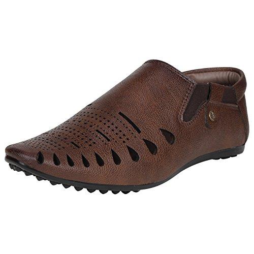 Kraasa 6017 Casual Men's Sandals Coffee UK 8