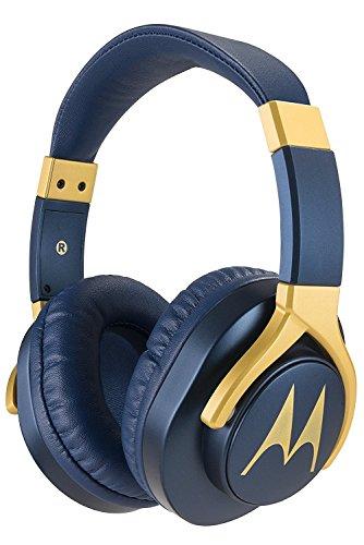 Motorola Pulse 3 Max Over Ear Wired Headphones with Alexa (Blue)