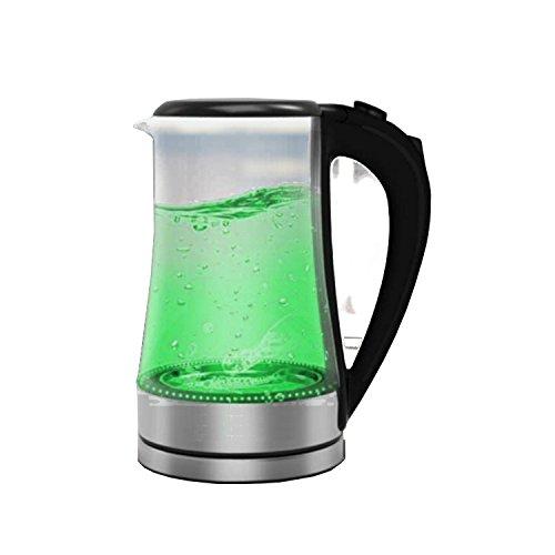 FRX Elektrischer Wasserkocher 1,8 L mit LED-Beleuchtung Wasserstandanzeige 2000 Watt Wasserkessel (Grün)