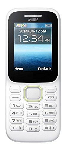 Vell-Com Callbar C63 Bold 310 Dual Sim 1.77 Inch Display Keypad Mobile With Camera (White Green)
