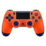 PS4 Wireless Controller Gamepad, GR65 DualShock PS4 Controller Wiederaufladbares Bluetooth-Gamepad mit Touchpad, Lichtleiste und 3,5-mm-Audiobuchse - ROT (von Drittanbietern hergestellt),Orange
