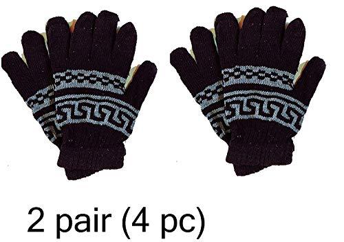 Apex Unisex Stretchable Woollen Warm Winter Biker Mittens (Free Size, Black)