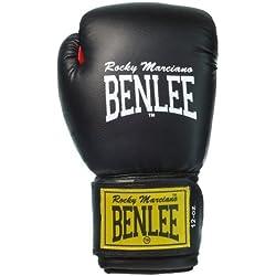 BenLee Rocky Marciano Fighter - Guante de boxeo (cuero) negro negro Talla:16 oz