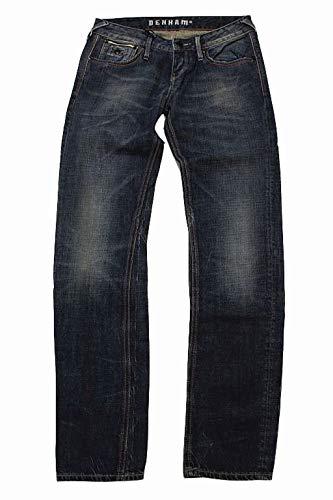 Denham Damen Jeans Hose W25 L32 Blau Denim Baggy Carrot Fit Boy #J63