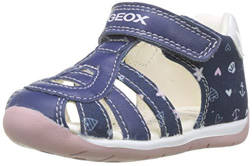 Geox B Each Girl C, Sandali Bimba, Blu (Navy/Pink C0694), 25 EU