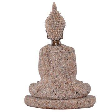 Estatua Estatuilla de Piedra Arenisca Escultura de Buda Meditación Tallada a Mano #3 8