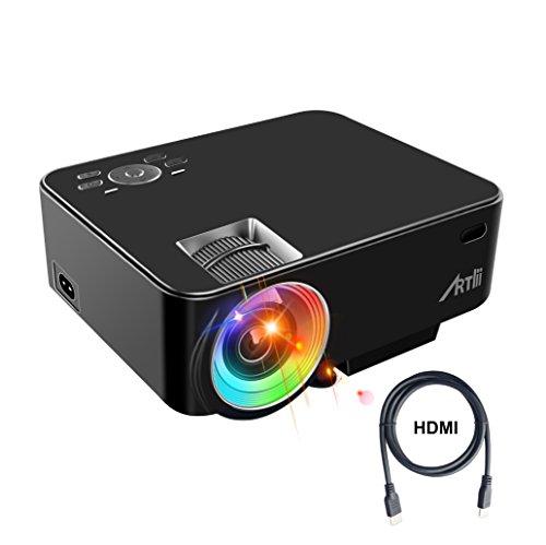 Retroprojecteur, ARTLII Videoprojecteur Portable LED Soutien HD 1080p HDMI...