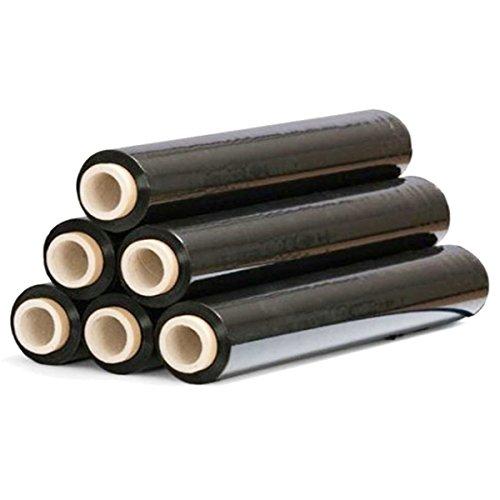 STI Film Estensibile nero pellicola rotolo 2.4kg 500mm 30 micron promo domopack 6 pezzi pallet