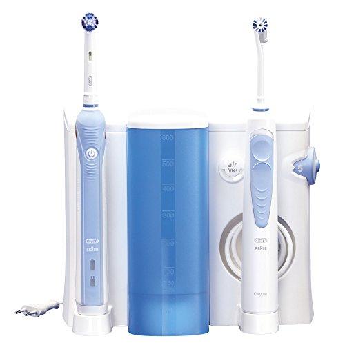 Oral-B Professional Care OxyJet +1000 - Cepillo de dientes eléctrico recargable + irrigador bucal