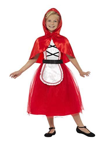 Smiffy's Smiffys-22496S Disfraz Deluxe de Caperucita Roja, con Vestido y Capucha Color Rojo S - Edad 4-6 años 22496S