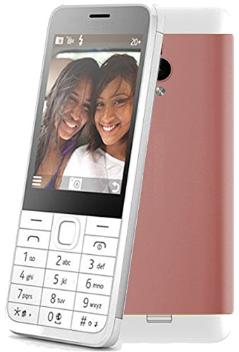 GoodOne G230 Keypad Mobile 2.8 Inch Big Screen Dual Sim Camera Torch Vibration (Rose Gold)