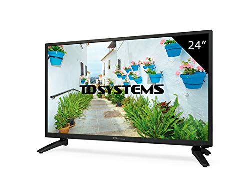 "TD Systems K24DLH8H - Televisor LED de 24"" (HD, HDMI, VGA, USB Reproductor y Grabador) Color Negro"