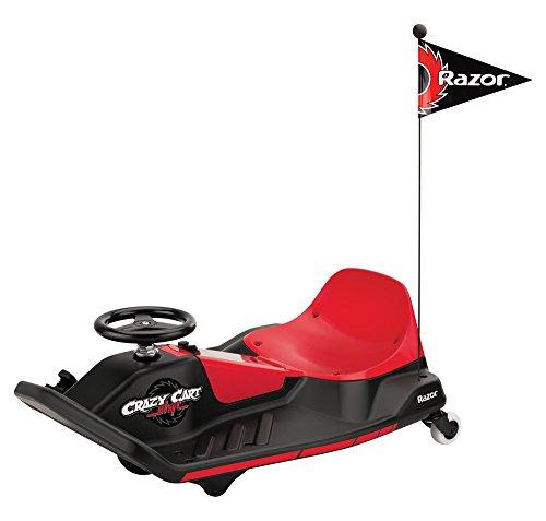 Razor Crazy Kart Shift Cart elettrico per bambini a batteria, Rosso/Nero