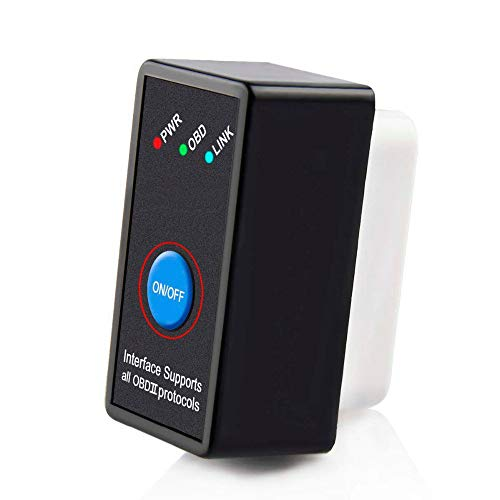ACUTAS V1.5 ELM327 Bluetooth OBD2 Scanner Car Code Reader with Power Switch for Android