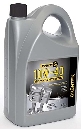 Gruntek 70 Power G 10W-40 Semi-Syntetic-Oli Motore per Auto, 4L