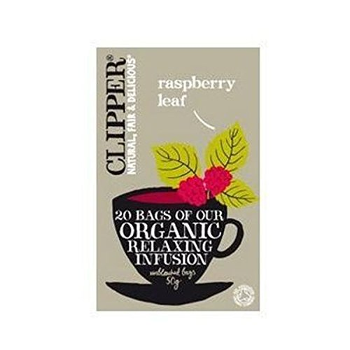 Clipper organic raspberry leaf tea (soil association) (infusions) (20 bags) (a vegetal tea with aromas of raspberry) (brews in 3-5 minutes)