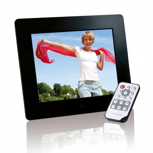 Intenso Photobase Digitaler Bilderrahmen (20,3cm (8 Zoll) Display, SD Kartenslot, Fernbedienung) schwarz