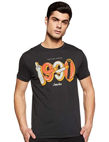 Jack & Jones Men's Floral Slim fit T-Shirt (12166625_Tap Shoe_XL)