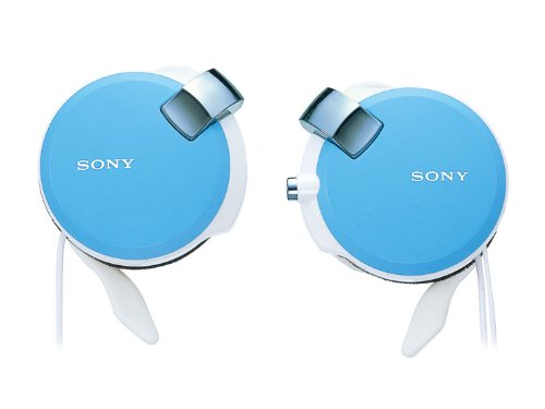 Sony Clip-on Stereo Headphones with Retractable | MDR-Q38LW L Blue(Japan Import)