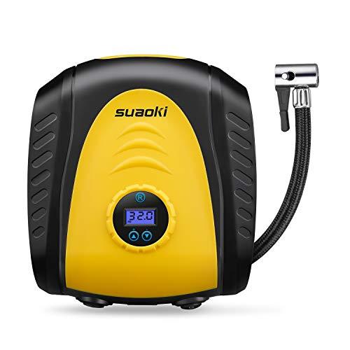 SUAOKI Luftkompressor Luftpumpe Elektrische Auto-Luftpumpe Digital Portable mit LCD Bildschirm Auto-Adapter 12V 150PSI