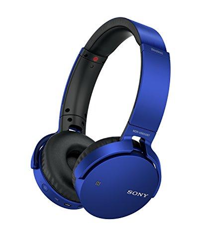 Sony MDR-XB650BT - Auriculares inalámbricos (Extra Bass, Bluetooth, NFC, diseño Plegable, hasta 30 Horas de autonomía), Color Azul