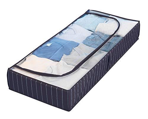 Wenko 4380440100 - Contenitore sottoletto Comfort, in plastica PEVA, Blu (Blu), 105 x 15 x 45 cm, 1...