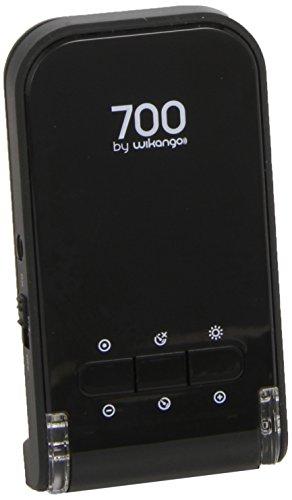 Wikango 700 - Avisador de radar,radares fijos y móviles, pantalla digital, alertas vocales, limitador de velocidad, bateria incluida, memoria de puntos personales.