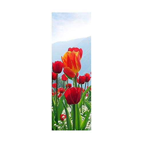 Decorazione creativa del frigorifero, scenario di fiori freschi, autoadesivo adesivo frigorifero...