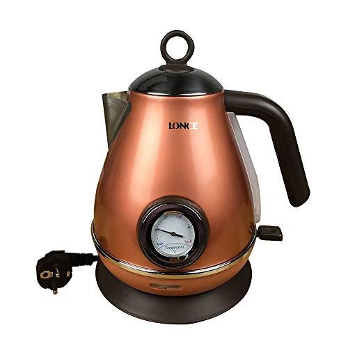 Bollitore Rapido con Termometro, Rivestimento Soft Touch E Finitura Verde Arancio Opaco, Design...
