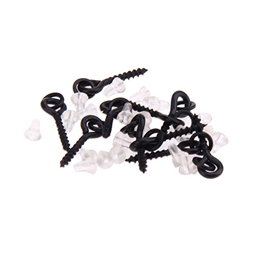 NEWSHOT 10PCS esca per la pesca viti & 20PCS Hook stop, fish pop up peg Crankbaits Holder Screw Eyes con collegamento loop terminale affrontare accessori