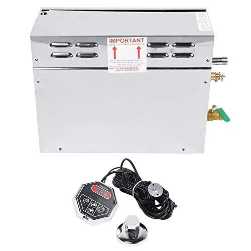 Wandisy Generador de Vapor eléctrico para Sauna Controlador de Pantalla Digital de Temperatura TC-135 de Acero Inoxidable(Nosotros)