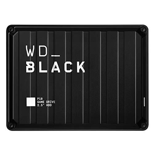 WD_BLACK P10 Game Drive 5 TB, HDD Portatile per Accesso in Mobilità alla Tua Library di Giochi,...