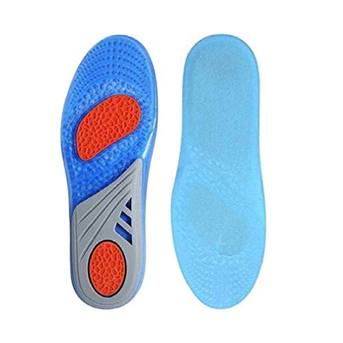 Voroly Orthopedic Shoe Insole Shock Absorption Foot Cushion Pads Cuttable for Men and Women (Skybule-Gel)