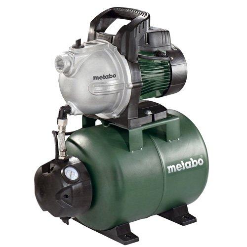 Metabo Hauswasserwerk HWW 4000/25 G (1100W, 4,6 bar, 24 l, Fördermenge 4000 l/h, Vorfilter, Rückschlagventil - Hauswasserautomat mit Start/Stop Automatik) 60097100