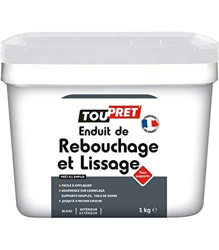 Toupret LSRLP1 Enduit de rebouchage/lissage tout support 1 Kg Blanc