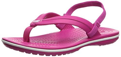 Crocs Crocband Strap Flip Kids, Scarpe da Spiaggia e Piscina Unisex-Bambini, Rosa (Candy Pink 000),...