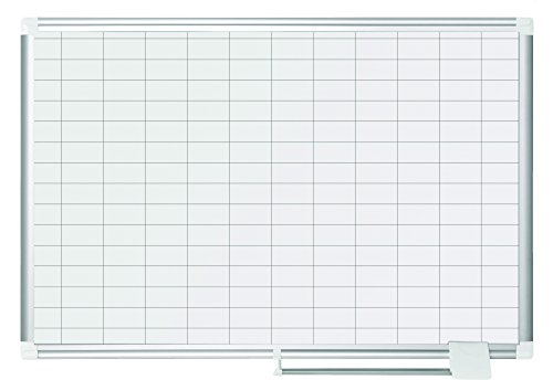 Bi-Office New Generation - Lavagna Magnetica Planning, 90 x 60 cm, Superficie Magnetica Acciaio...