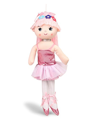 My Baby Excels Ballerina Plush Doll | Imported Premium Quality | Soft Toy for Kids of Age 1 Year and Above | Pink Colour | Size 50 cm