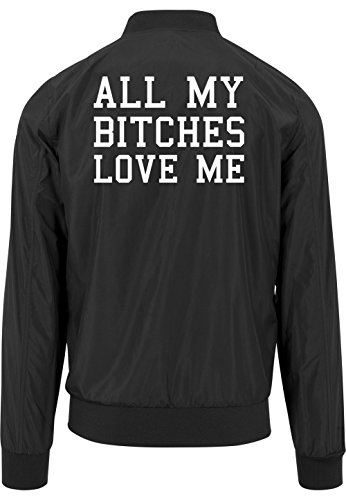 All My Bitches Love Me Bomber Giacca Nero Certified Freak-XL