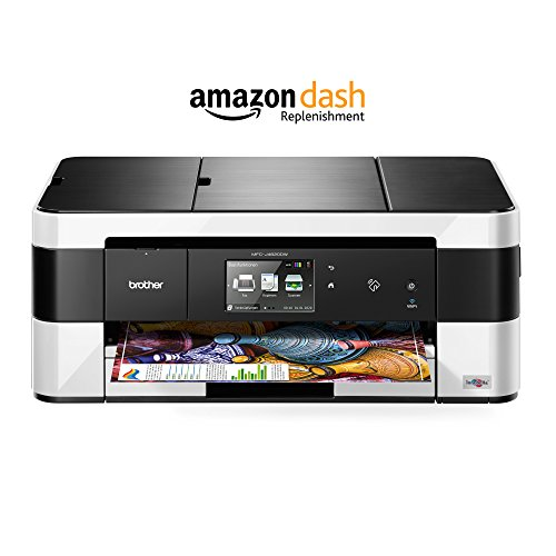 Brother MFC-J4620DW 4-in-1 Farbtintenstrahl-Multifunktionsgerät (WLAN, Farbdrucker, Farbkopierer, Scanner, Fax, 6000 x 1200 dpi, USB 2.0) schwarz/weiß mit Amazon Dash Replenishment Funktion